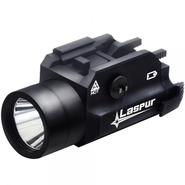 USA LASPUR Weapon Rail Mount CREE LED High Lumen Tactical Flashlight Light  with Strobe for Pistol Rifle Handgun Gun, Black d201daf379c2