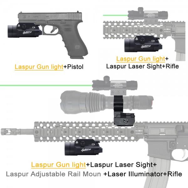 USA LASPUR Weapon Rail Mount CREE LED High Lumen Tactical