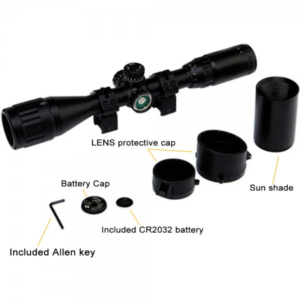 Hunting Equipment Rifle Scope Red Green Range Finder Illuminated Optical Sniper Rifle Telescopic